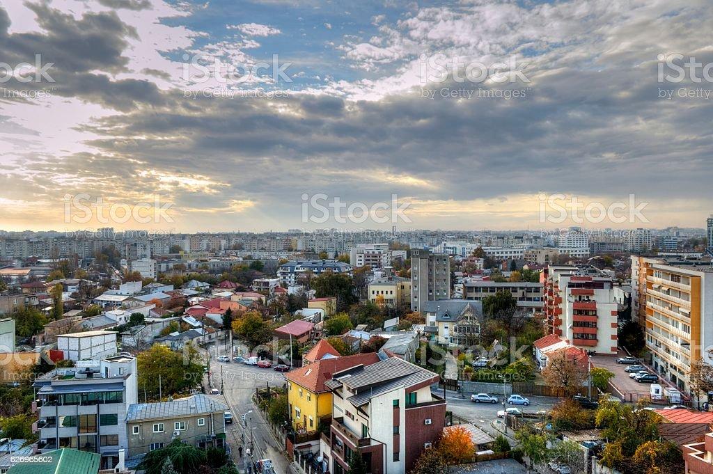 Panoramic View of Bucharest - HDR stock photo
