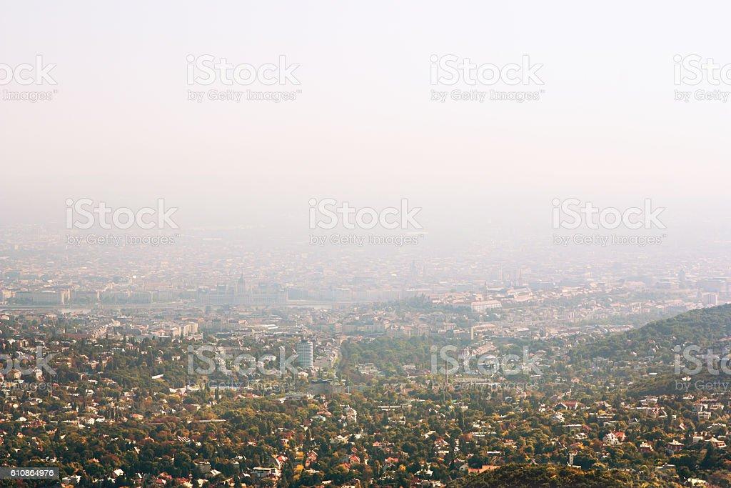 Panoramic view of Budapest, Hungary stock photo