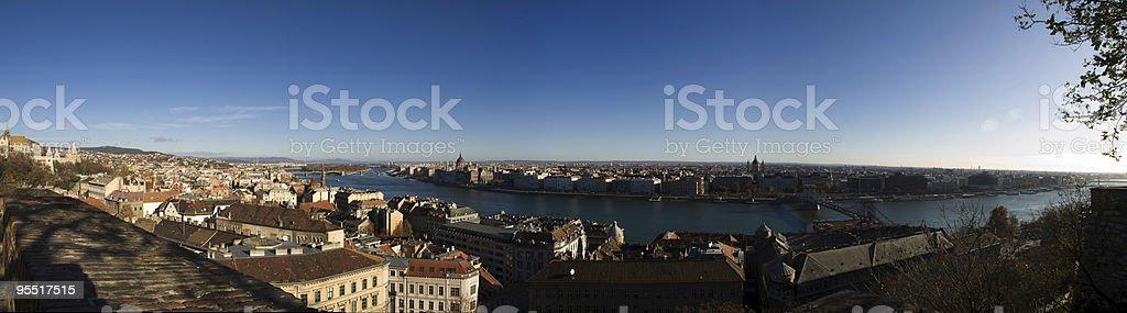 Panoramic view of Budapest, Hungary royalty-free stock photo