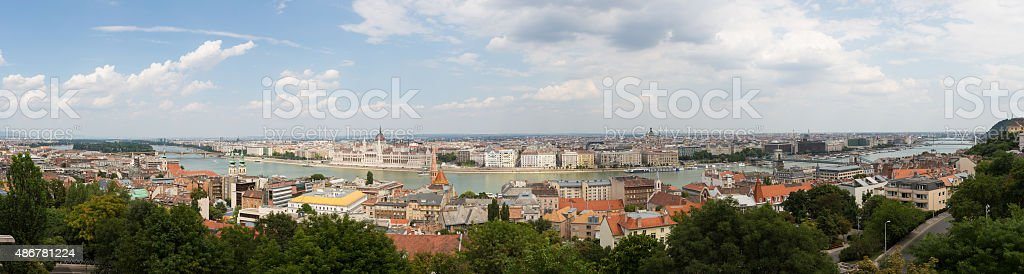 Panoramic view of Budapest stock photo