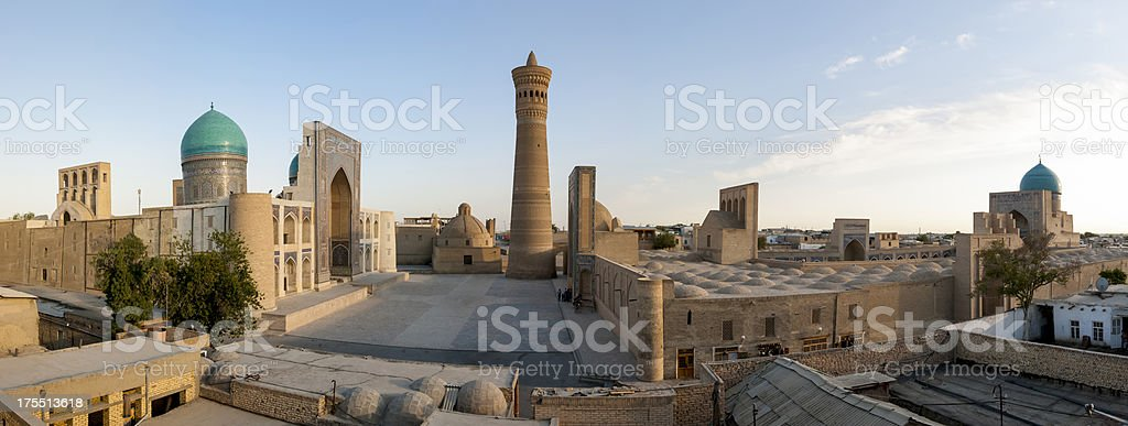 Panoramic view of Bukhara old town stock photo