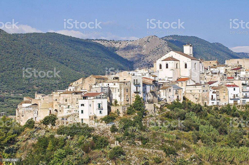 Panoramic view of Cagnano Varano. Puglia. Italy. stock photo