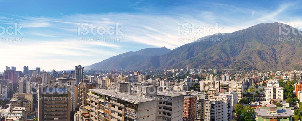 Panoramic view of Caracas, Venezuela stock photo