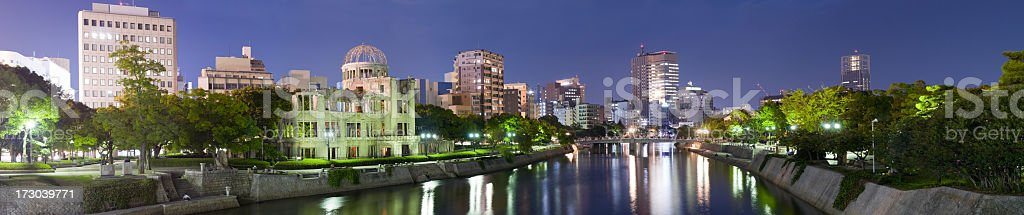 Panoramic View of Central Hiroshima (XXL) royalty-free stock photo