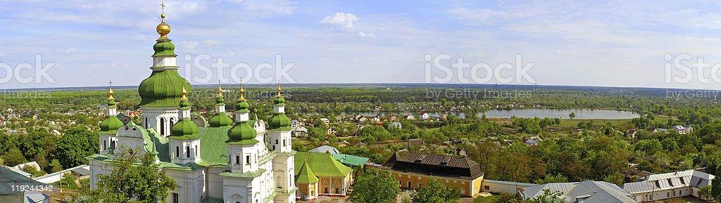 Panoramic view of Chernigiv city, Ukraine stock photo