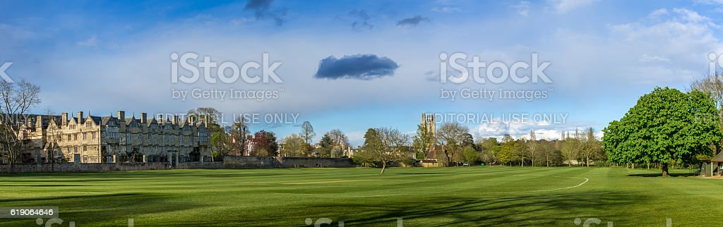Panoramic view of Christchurch Colle stock photo