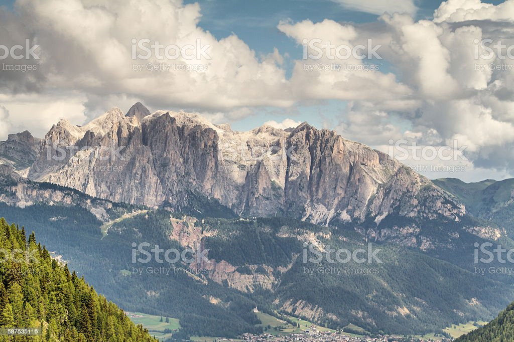 Panoramic view of Costabella Mountains - Trentino - Italy stock photo