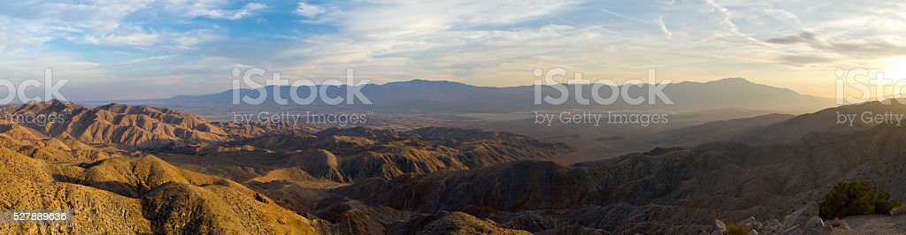 Panoramic View of Desert Landscape stock photo