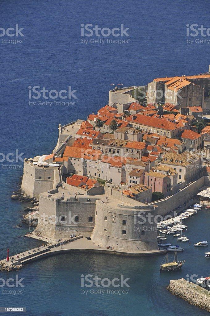 Panoramic view of Dubrovnik royalty-free stock photo
