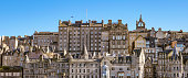Panoramic view of Edinburgh's Old Town