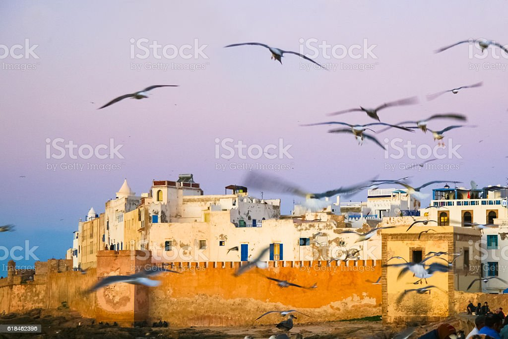 Panoramic view of Essaouira, Morocco, north Africa. stock photo