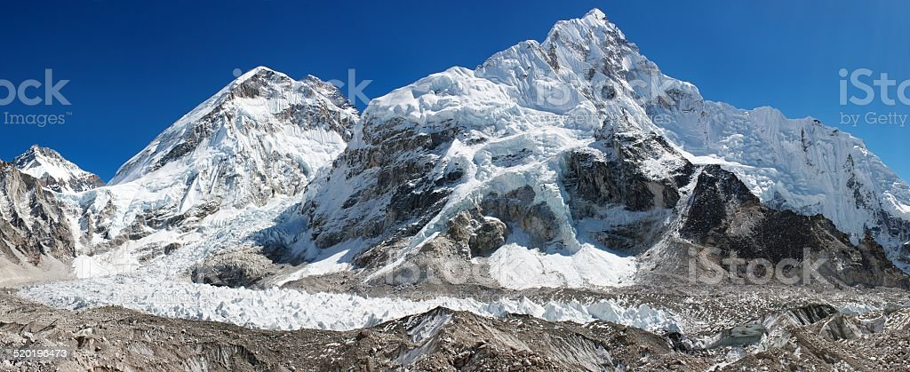 panoramic view of Everest stock photo