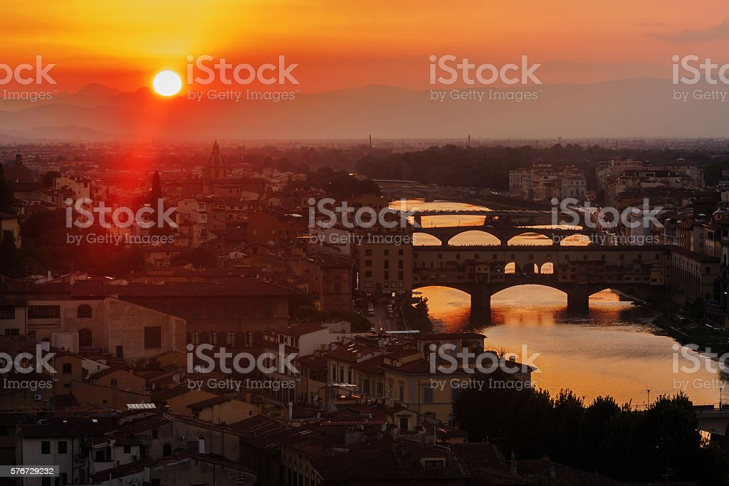 Panoramic view of Florence stock photo