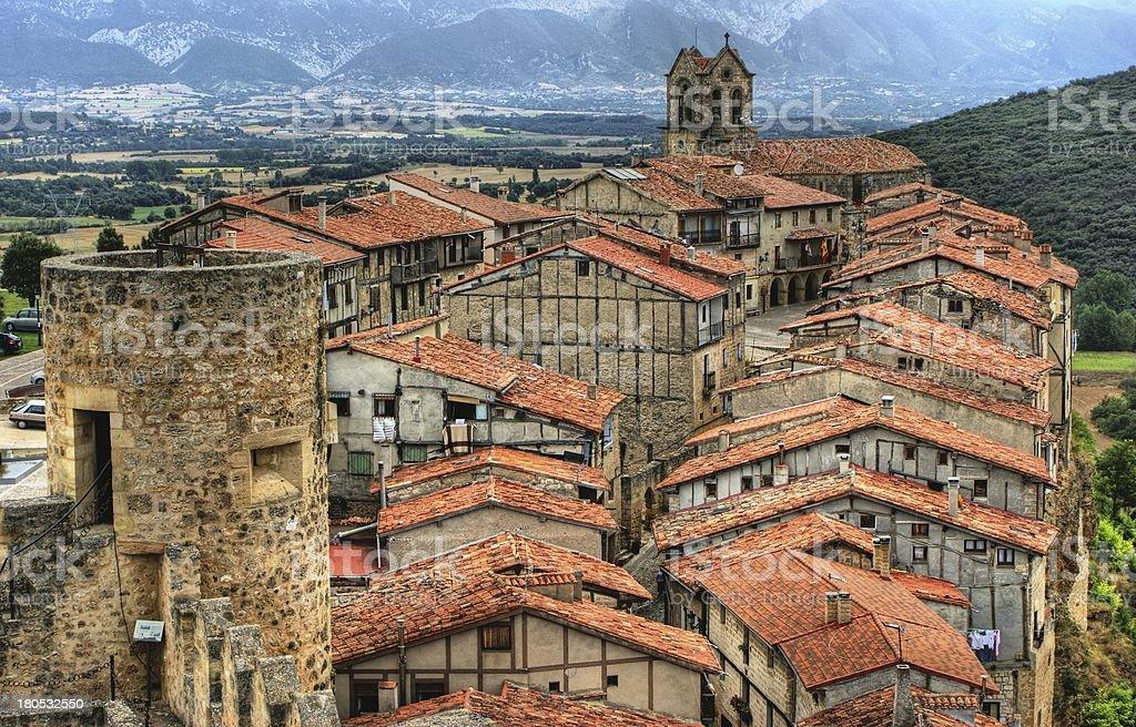 Panoramic view of Frias stock photo