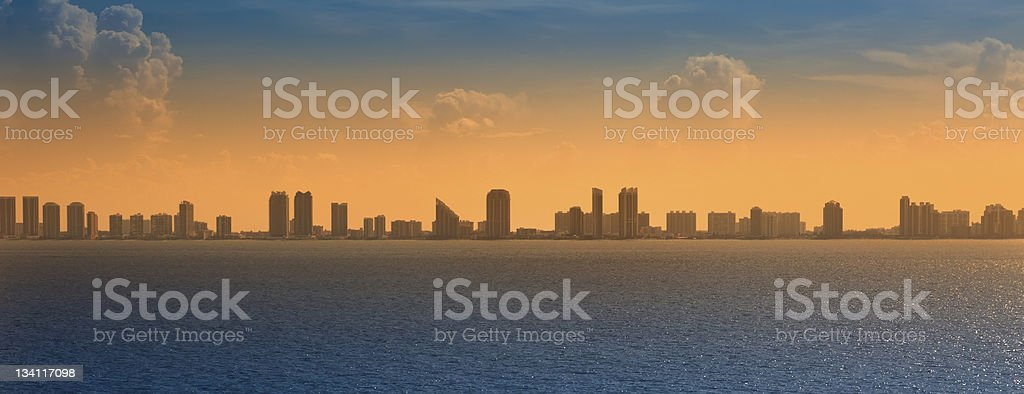 Panoramic View of Ft. Lauderdale, Florida stock photo