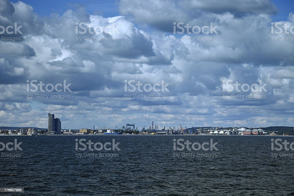 Panoramic view of Gdynia royalty-free stock photo