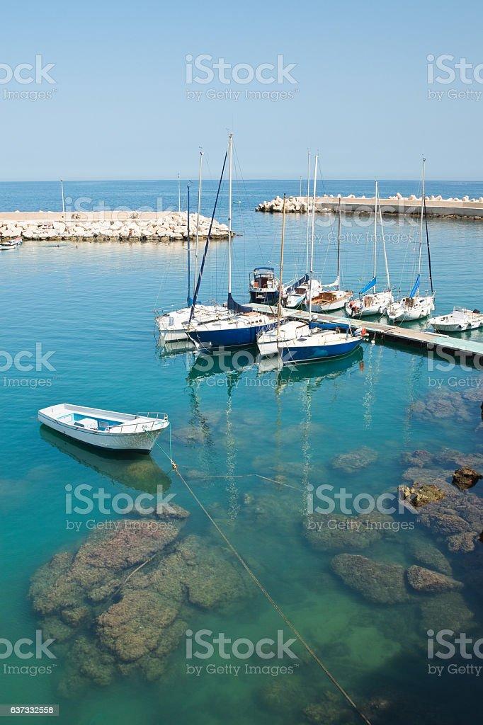 Panoramic view of Giovinazzo. Puglia. Italy. stock photo