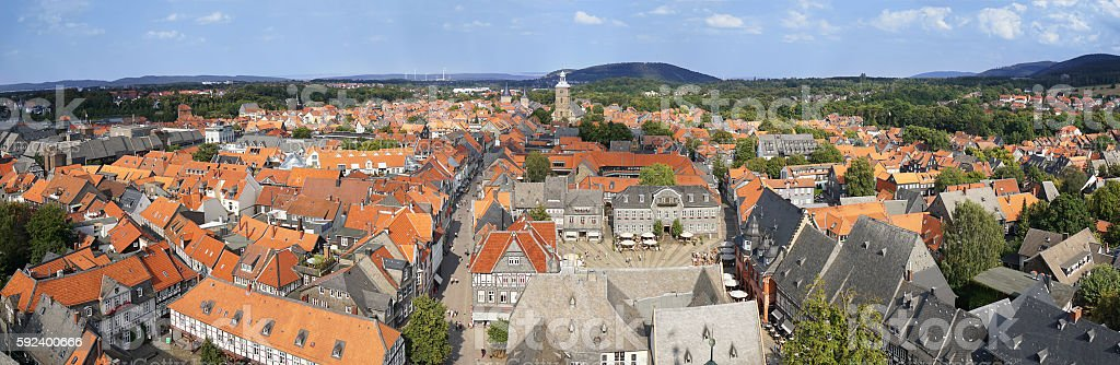 panoramic view of Goslar in Germany stock photo