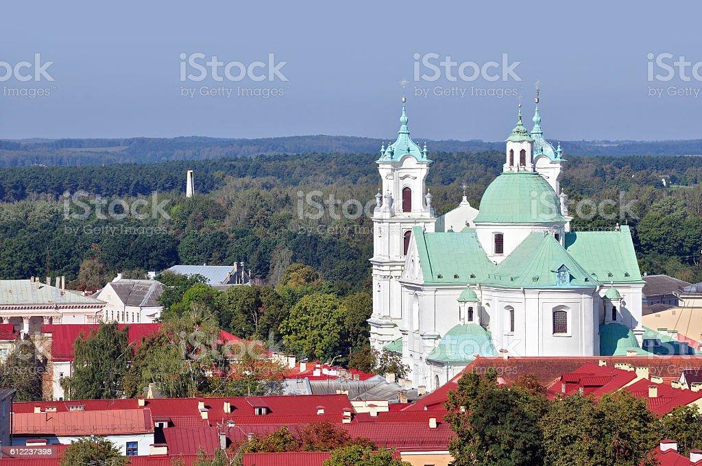 Panoramic view of Grodno, Belarus. stock photo