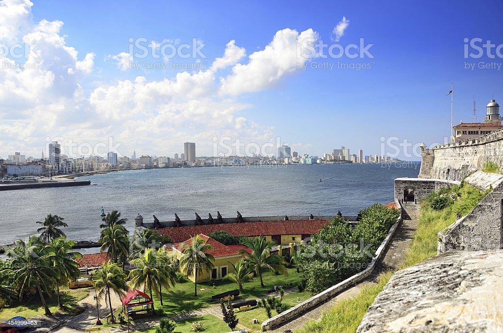 Panoramic view of Havana stock photo