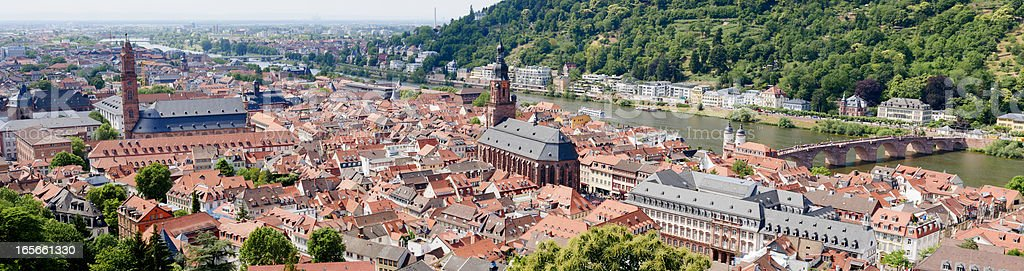 XXXL: Panoramic view of Heidelberg, Germany stock photo