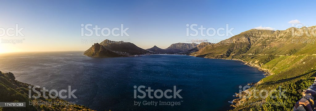 Panoramic view of Hout Bay from Chapman's Peak, South Africa royalty-free stock photo