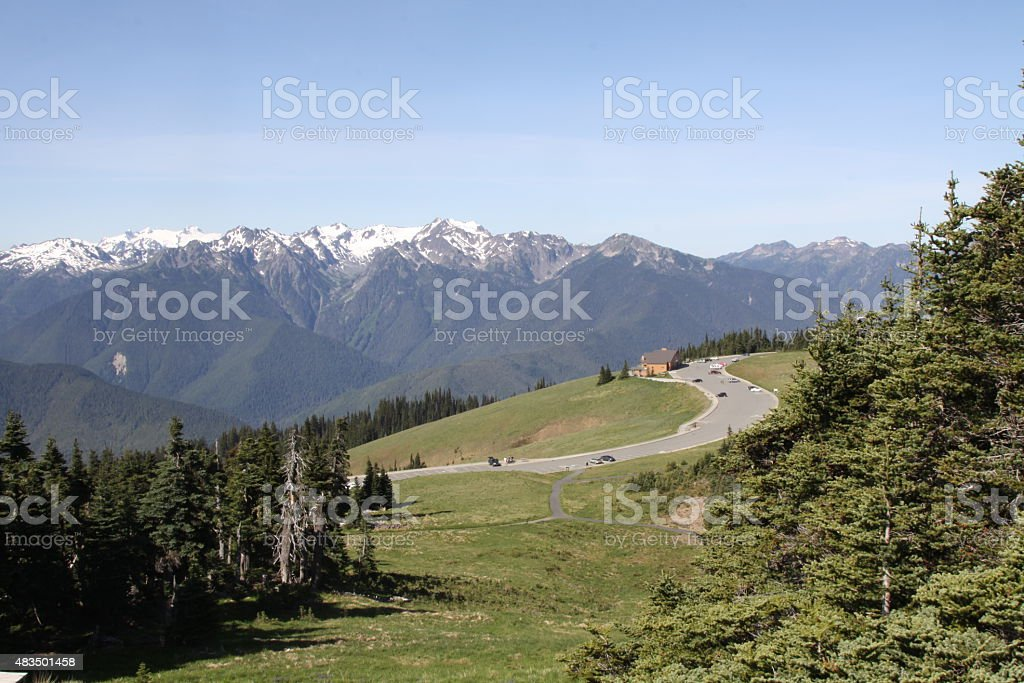 Panoramic View Of Hurricane Ridge stock photo
