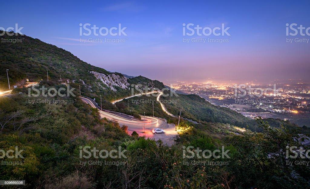 Panoramic view of Islamabad, Pakistan. stock photo