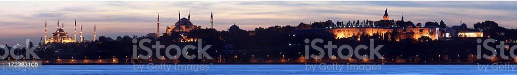 Panoramic view of Istanbul stock photo