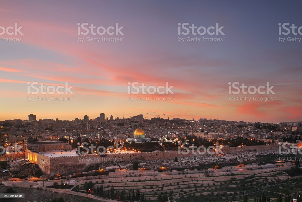 Panoramic view of Jerusalem. Israel stock photo