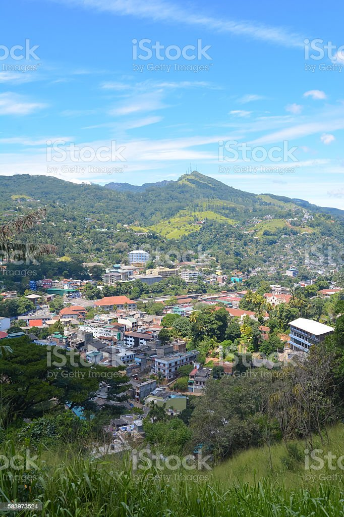 Panoramic View Of Kandy City, Sri Lanka stock photo