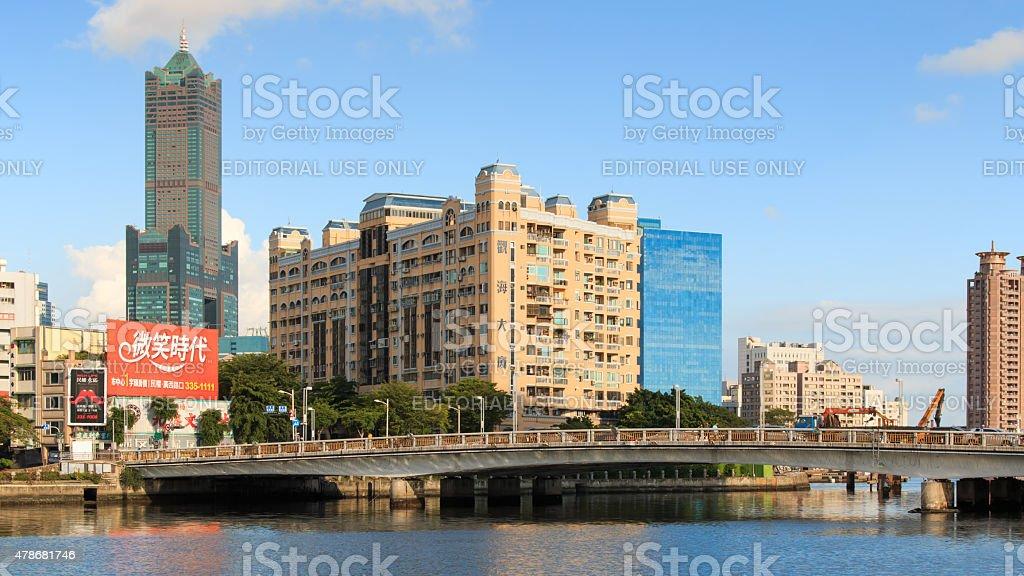 Panoramic view of Kaohsiung, Taiwan stock photo