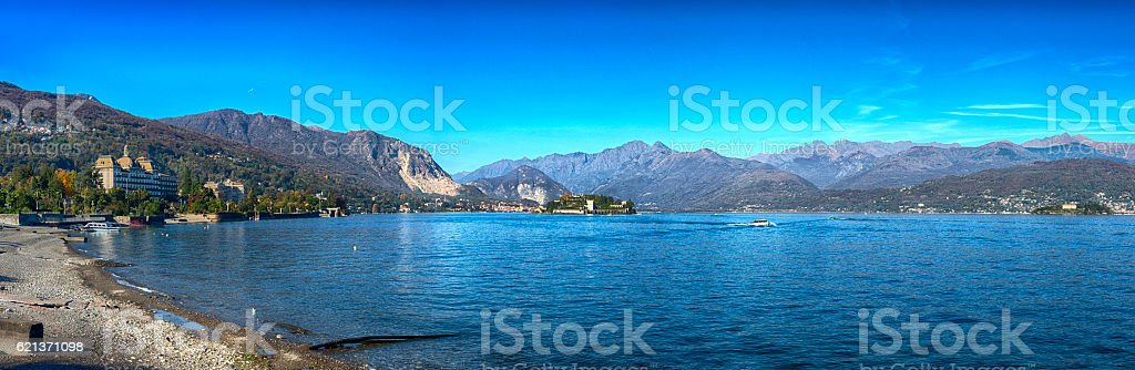 Panoramic view of Lake Maggiore, Italy royalty-free stock photo