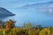 Panoramic view of Lake Thun, Switzerland
