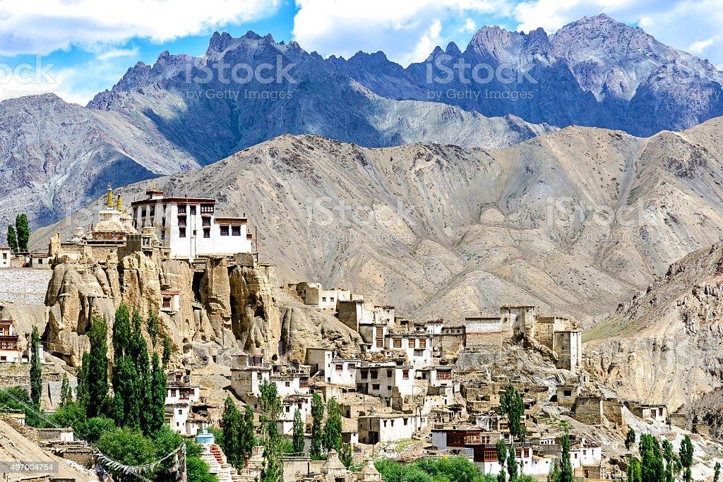 Panoramic view of Lamayuru monastery in Ladakh, India stock photo