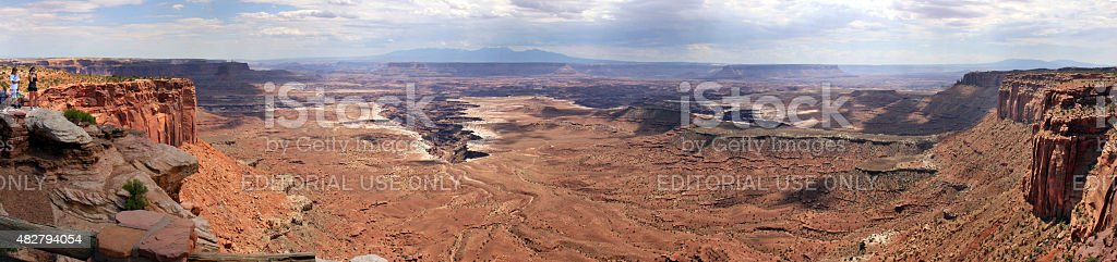 Panoramic view of landscape of Canyonlands National Park stock photo
