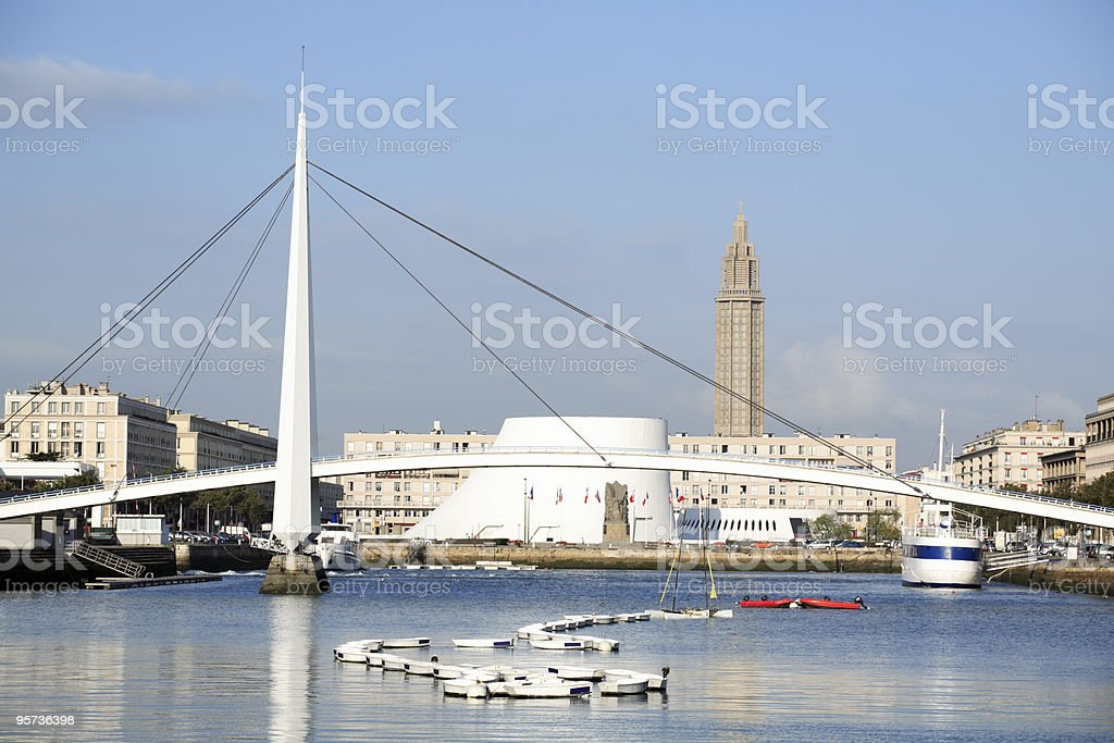 Panoramic view of Le Havre in France stock photo