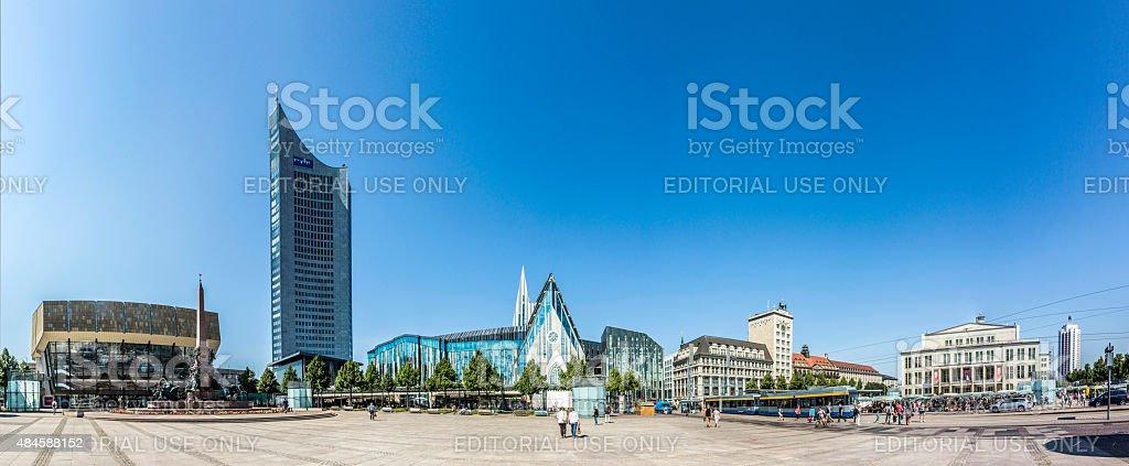 Panoramic view of Leipzig stock photo