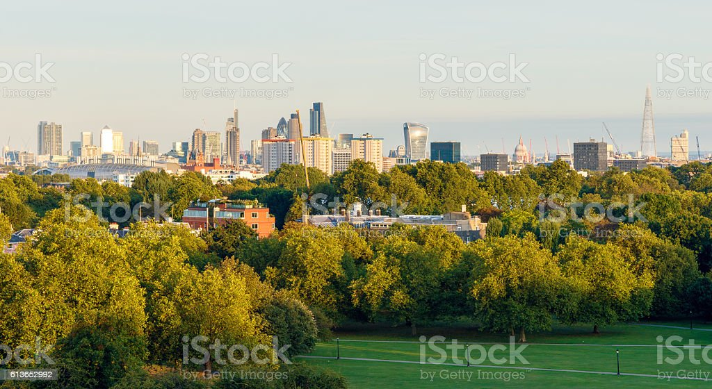 Panoramic View of London Cityscape stock photo