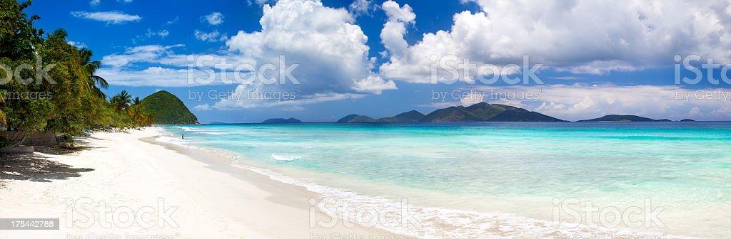 panoramic view of Long Bay, Tortola, British Virgin Islands stock photo
