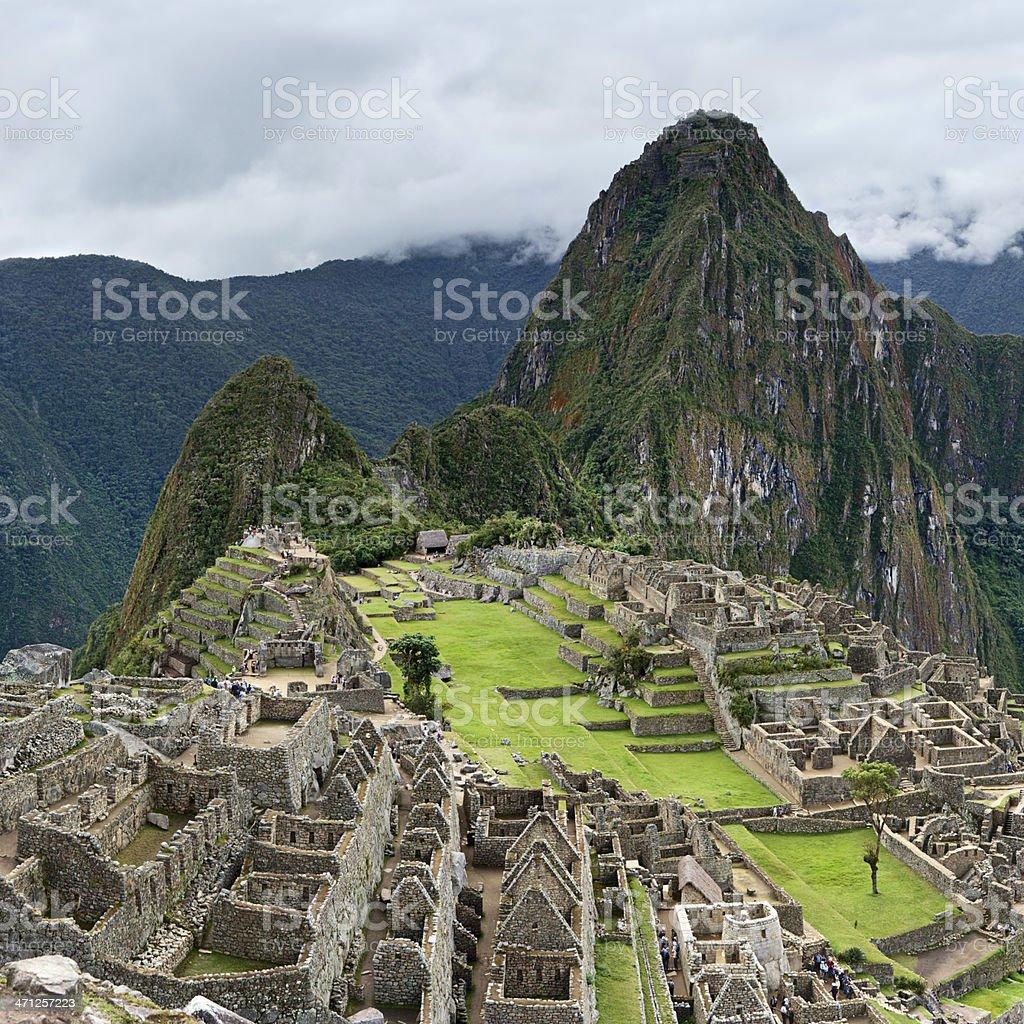 Panoramic view of Machu Picchu royalty-free stock photo