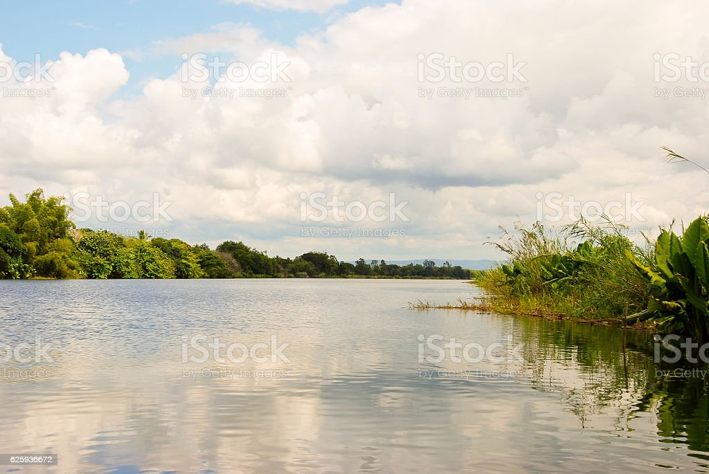 Panoramic view of Madagascar landscape stock photo