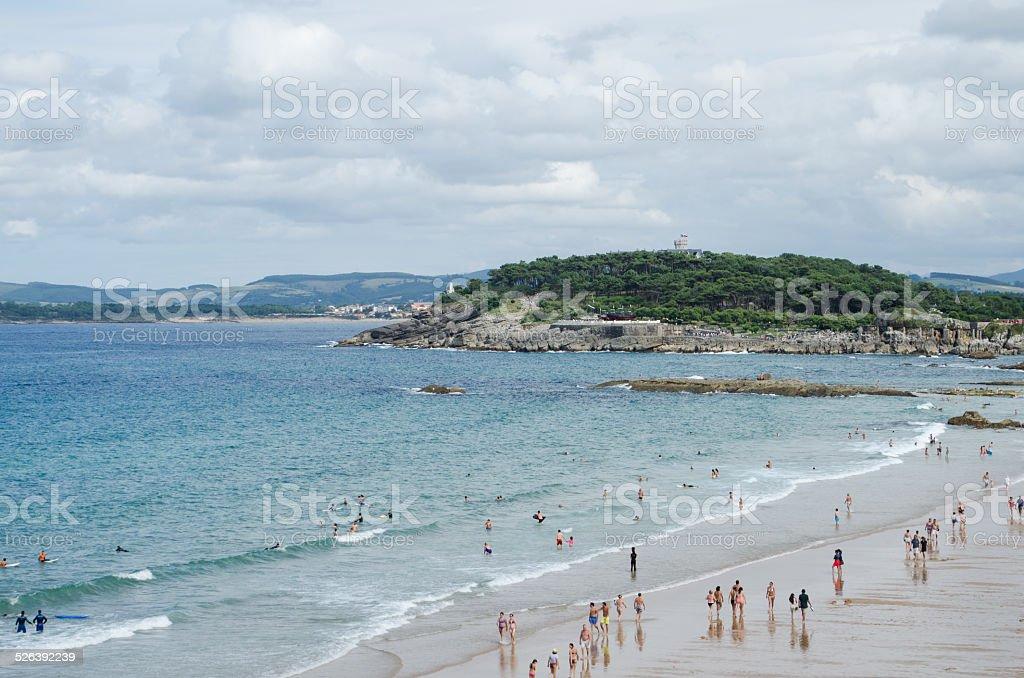 Panoramic view of Magdalena Peninsula stock photo