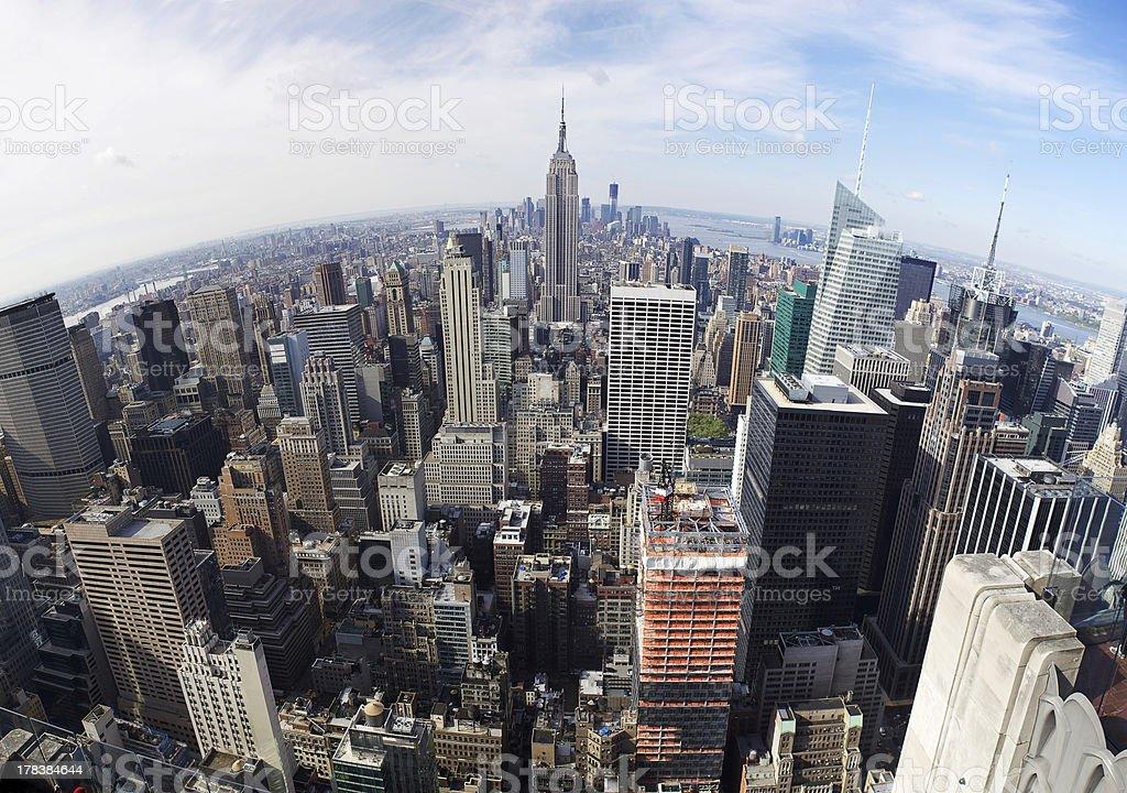 panoramic view of manhattan royalty-free stock photo
