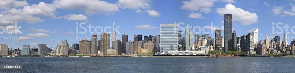 Panoramic view of Midtown Manhattan NY stock photo