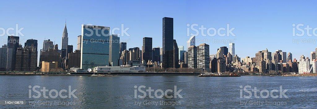 Panoramic view of Midtown Manhattan skyline, New York City royalty-free stock photo