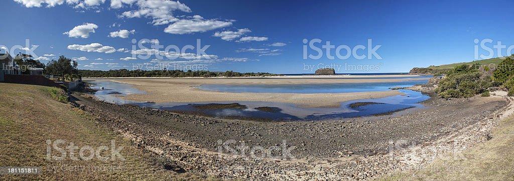 Panoramic view of Minnamurra near Kiama, NSW, Australia royalty-free stock photo