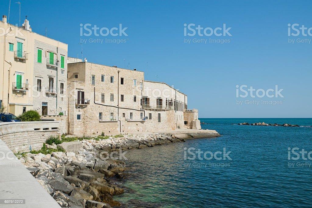 Panoramic view of Molfetta. Puglia. Italy. stock photo