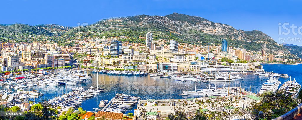 Panoramic view of Monaco stock photo