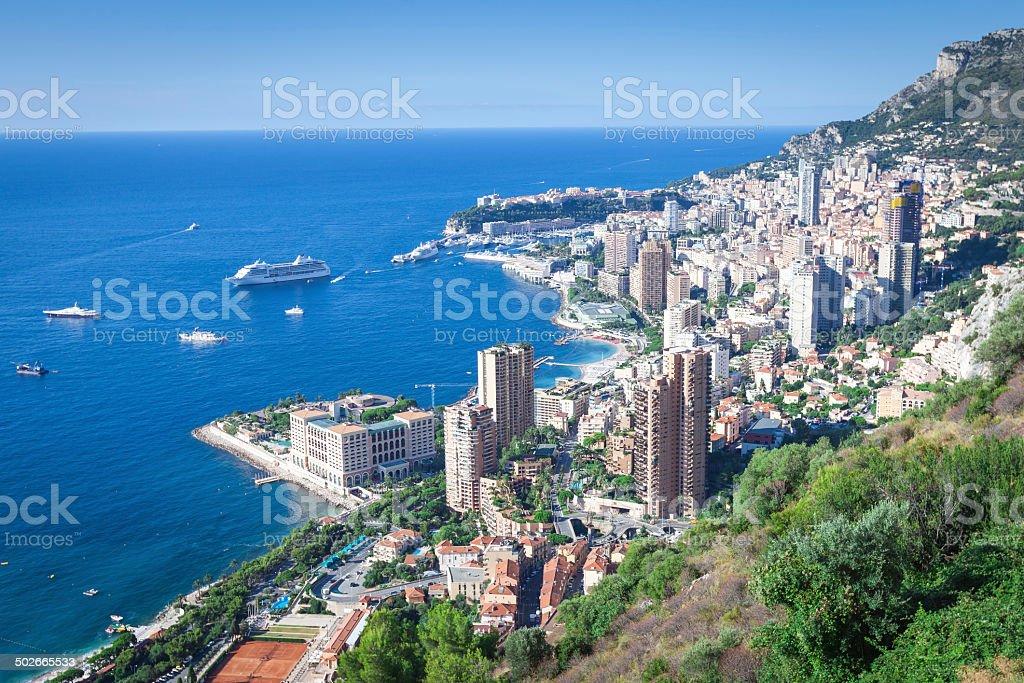 Panoramic view of Monaco stock photo